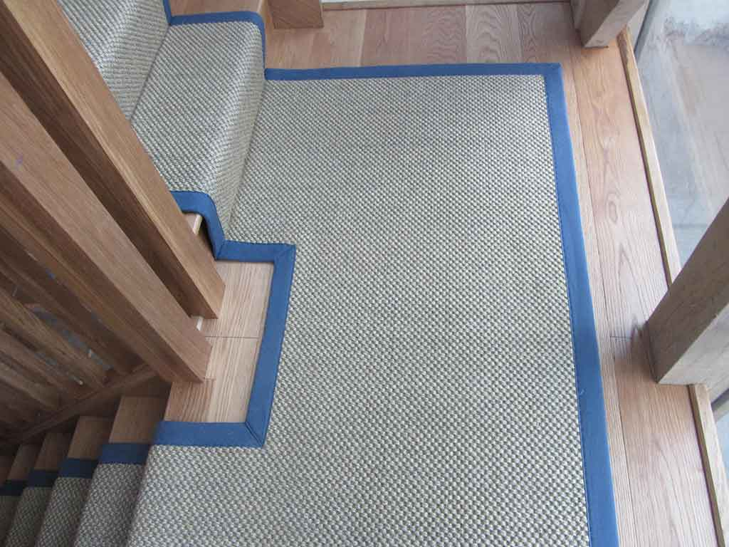 Sisal on Landing with bound stairs